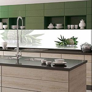 dekorativna staklena obloga-kaljeno staklo-kuhinja-zid kuhinje