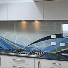 kaljeno staklo-kuhinja-dekorativna obloga za zid-geometrijska sara