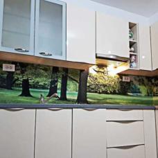 kaljeno staklo-kuhinja-dekorativna obloga-stampa na staklu-priroda-po meri